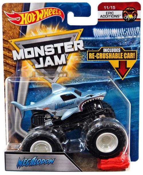 Hot Wheels Monster Jam Megalodon Die-Cast Car #11/15 [Epic Additions, Re-Crushable Car]