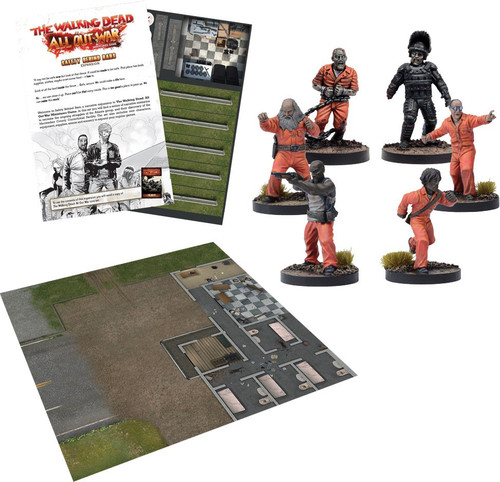 The Walking Dead Walking Dead All Out War Miniature Game Safety Behind Bars Expansion Set