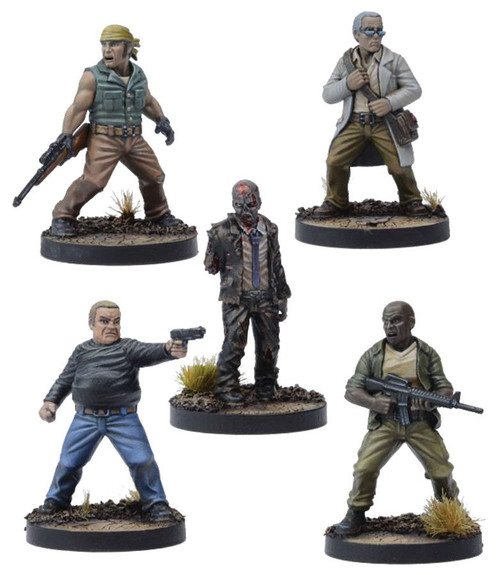 The Walking Dead Walking Dead All Out War Miniature Game Made to Suffer Expansion Set