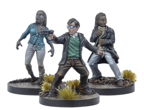 The Walking Dead Walking Dead All Out War Miniature Game Julie & Chris Game Booster