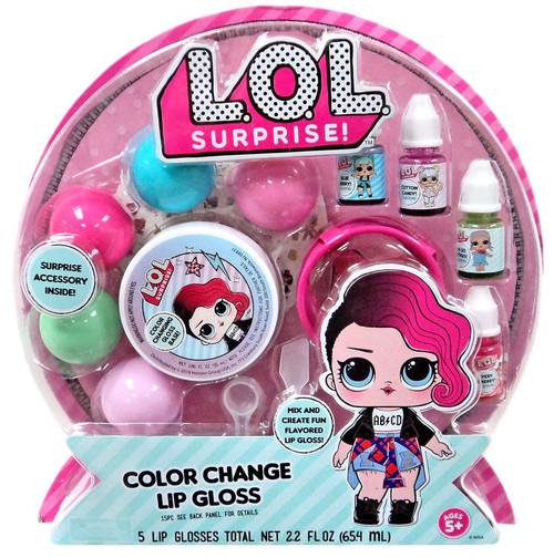 LOL Surprise Color Change Lip Gloss Kit [5 Lip Glosses]