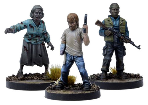 The Walking Dead Walking Dead All Out War Miniature Game Rick Game Booster [Disfigured but Determined]