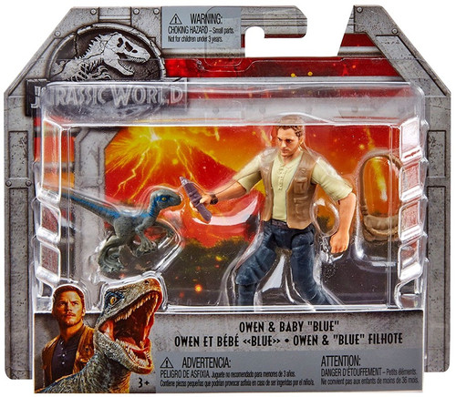 "Jurassic World Fallen Kingdom Owen & Baby ""Blue"" Action Figure"
