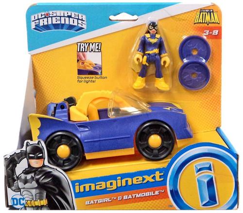 Fisher Price DC Super Friends Imaginext Batgirl & Batmobile Figure Set