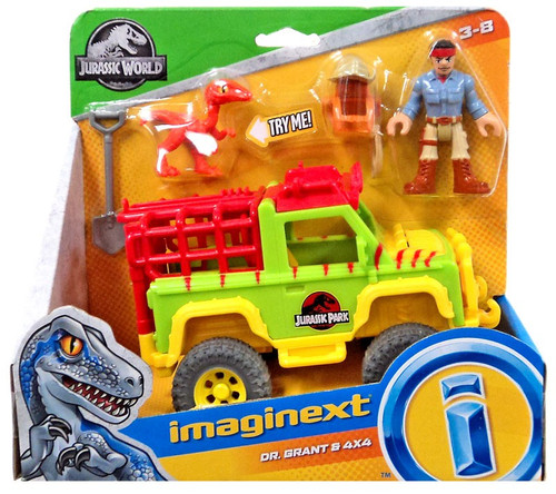 Fisher Price Jurassic World Imaginext Dr. Grant & 4x4 Figure Set