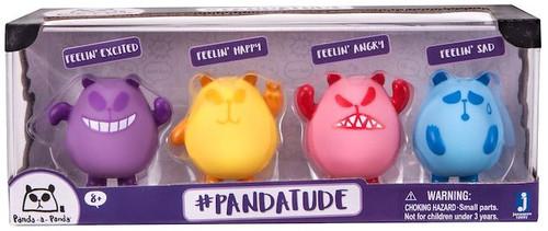Panda-a-Panda #Pandatude Panda Mood Figure 4-Pack