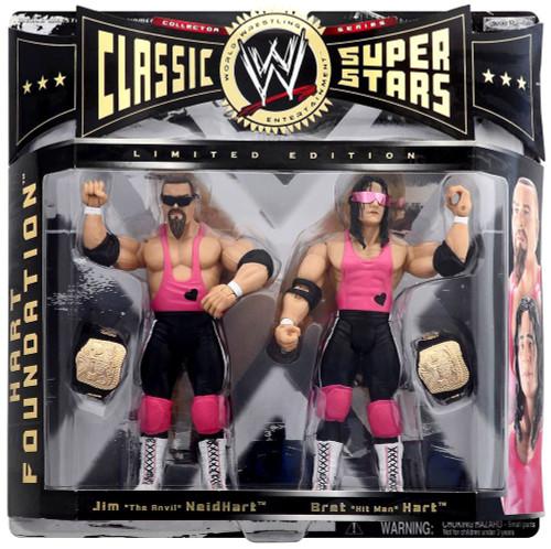 WWE Wrestling Classic Superstars Series 1 Bret Hart & Jim Neidhart Exclusive Action Figure 2-Pack