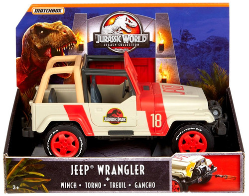 Jurassic World Matchbox Legacy Collection Jeep Wrangler with Winch Exclusive Vehicle