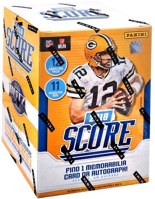 NFL Panini 2018 Score Football Trading Card BLASTER Box [11 Packs, 1 Memorabilia OR Autograph Card!]