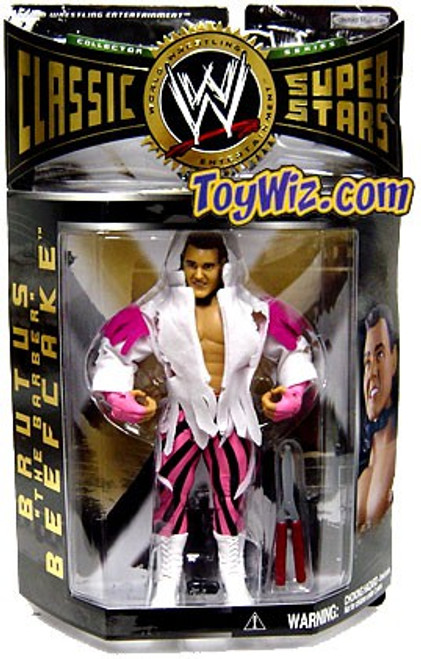 WWE Wrestling Classic Superstars Series 5 Brutus The Barber Beefcake Action Figure [Autograph]