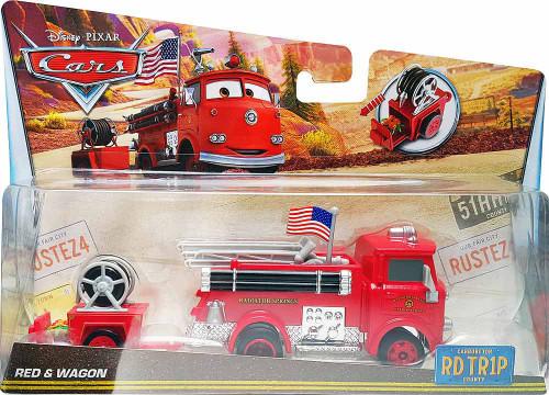 Disney / Pixar Cars RD TR1P Red & Wagon Diecast Car [Road Trip]