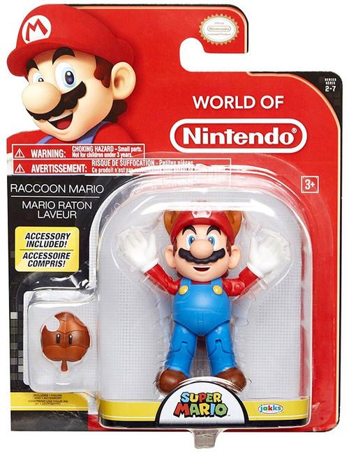 World of Nintendo Wave 12 Raccoon Mario Action Figure