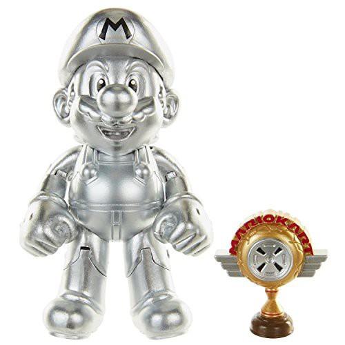 World of Nintendo Super Mario Metal Mario Action Figure [RANDOM Package, Same Exact Figure!]
