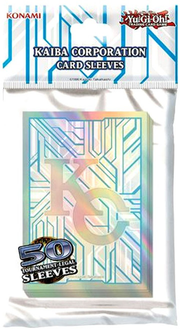 YuGiOh Trading Card Game Kaiba Corporation Card Sleeves [50 Count]