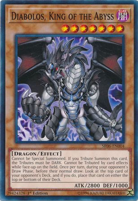 YuGiOh Lair of Darkness Structure Deck Common Diabolos, King of the Abyss SR06-EN004