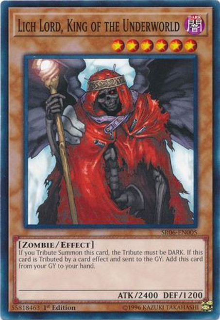 YuGiOh Lair of Darkness Structure Deck Common Lich Lord, King of the Underworld SR06-EN005
