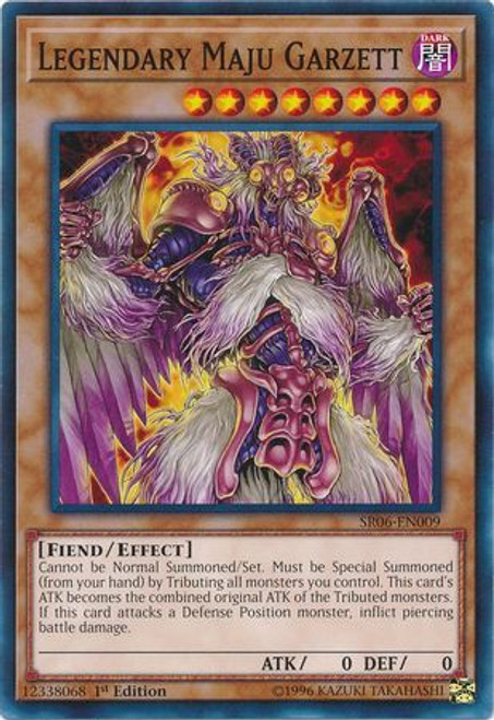 YuGiOh Lair of Darkness Structure Deck Common Legendary Maju Garzett SR06-EN009
