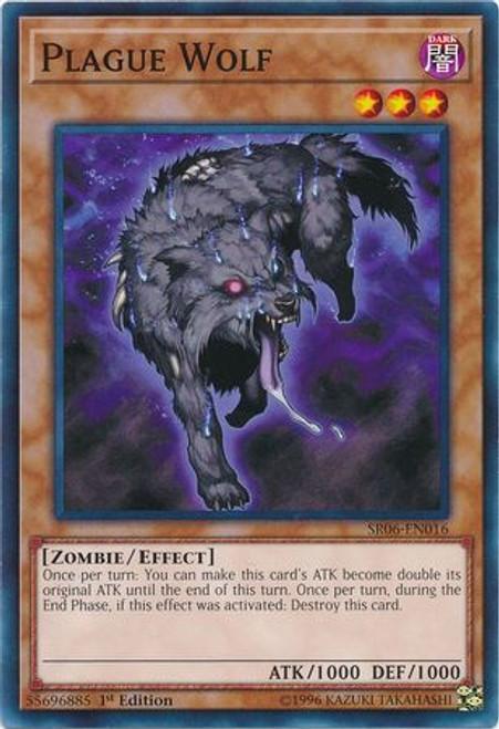 YuGiOh Lair of Darkness Structure Deck Common Plague Wolf SR06-EN016