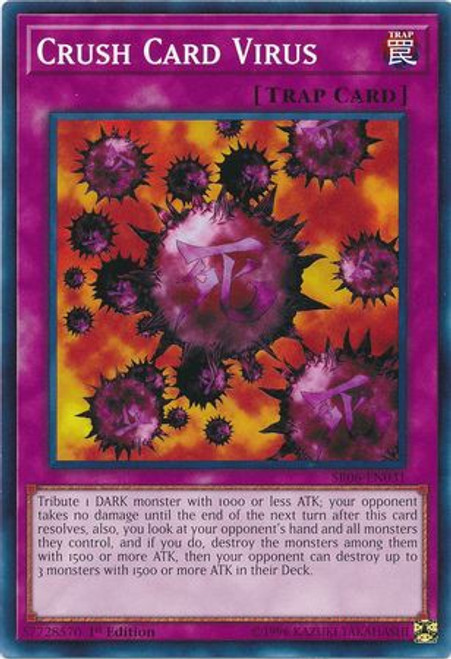 YuGiOh Lair of Darkness Structure Deck Common Crush Card Virus SR06-EN031