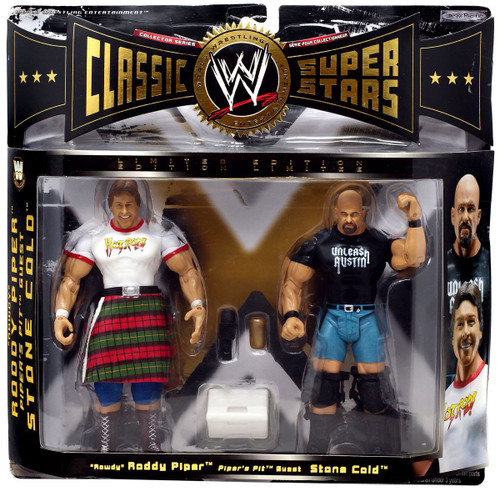 "WWE Wrestling Classic Superstars Series 3 Stone Cold Steve Austin & ""Rowdy"" Roddy Piper Exclusive Action Figure 2-Pack"
