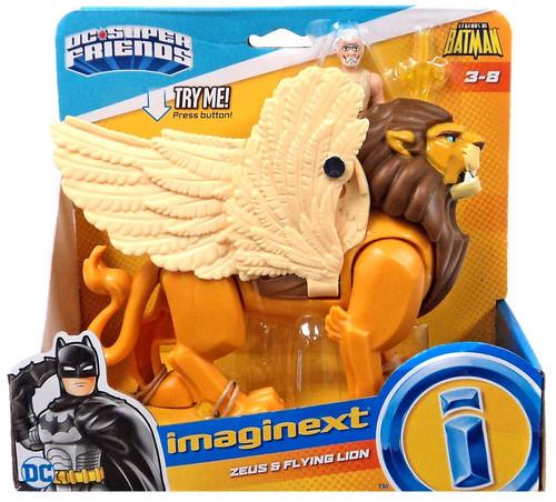 Fisher Price DC Super Friends Imaginext Zeus & Flying Lion 3-Inch Figure Set