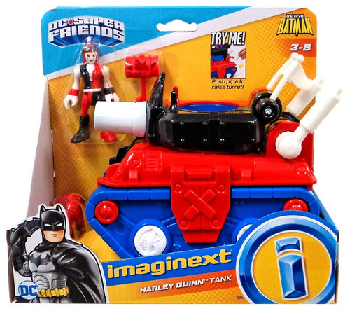 Fisher Price DC Super Friends Imaginext Harley Quinn & Tank 3-Inch Figure Set