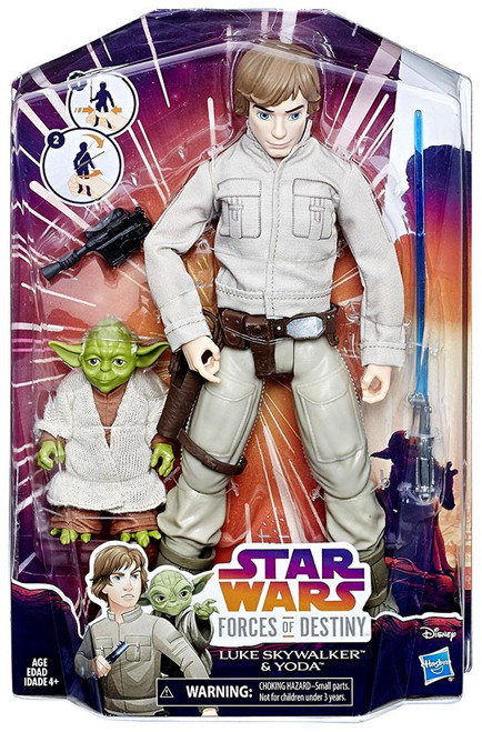 Star Wars Forces of Destiny Adventure Luke Skywalker & Yoda Figure 2-Pack