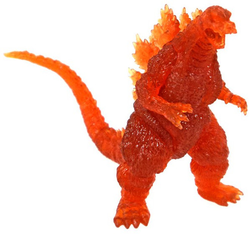 2017 Godzilla 1995 Buring Godzilla 2-Inch Gashapon Capsule Toy Figure [Translucent]