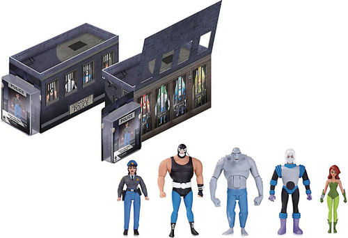 Batman The Animated Series GCPD Rogues Gallery Action Figure 5-Pack [Killer Croc, Bane, Mr. Freeze, Poison Ivy & Renee Montoya]