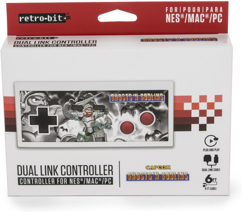 Retro-Bit NES Style Ghost N Goblins Video Game Controller [PC USB Dual Link]