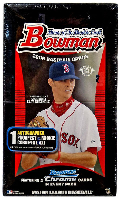 MLB 2008 Bowman Baseball Cards Trading Card HOBBY Box