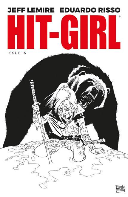 Image Comics Hit-Girl #5 Comic Book [Cover B Black & White]