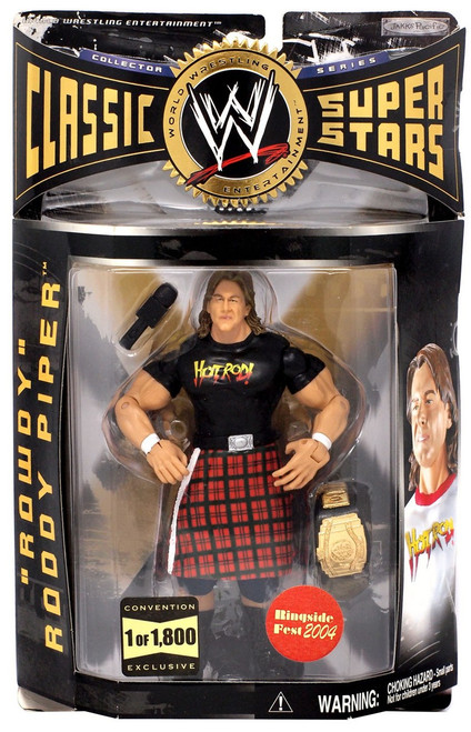 WWE Wrestling Classic Superstars Rowdy Roddy Piper Exclusive Action Figure [Black Shirt]