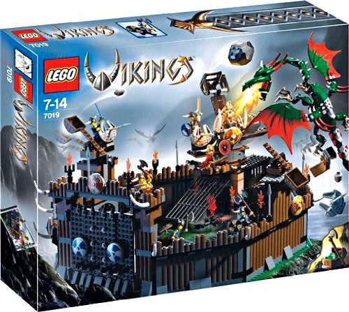 LEGO Vikings Viking Fortress Against the Fafnir Dragon Set #7019