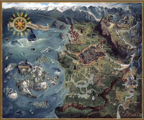The Witcher 3: Wild Hunt Northern Realms Map 27-Inch Puzzle