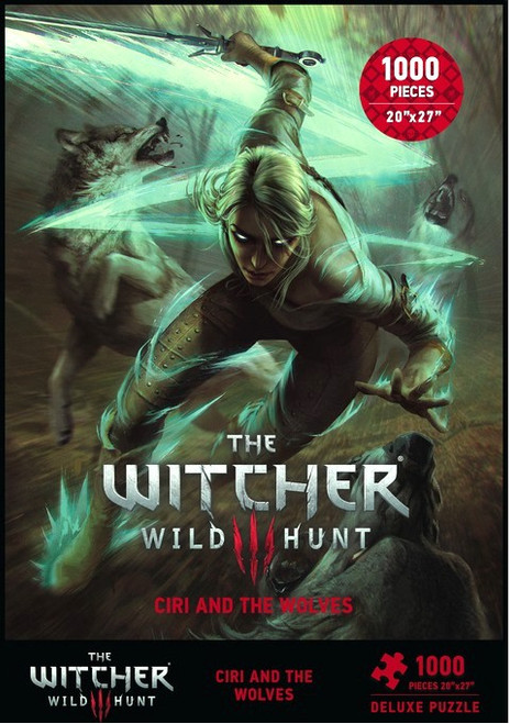 The Witcher 3: Wild Hunt Ciri and the Wolves 27-Inch Puzzle