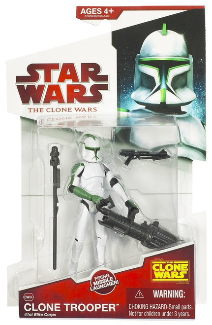 Star Wars The Clone Wars 2009 Clone Trooper 41st Elite Corp Action Figure CW04