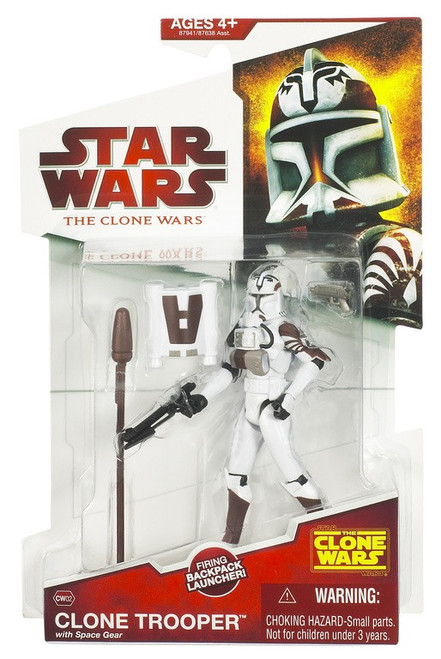 Star Wars The Clone Wars 2009 Clone Trooper with Space Gear Action Figure CW02