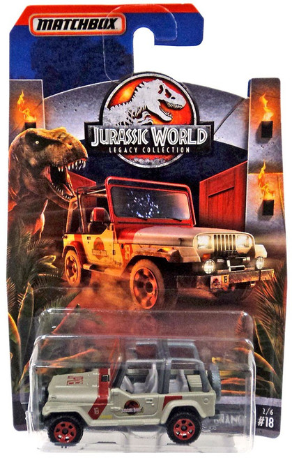 Jurassic World Matchbox Legacy Collection '93 Jeep Wrangler #18 Diecast Vehicle