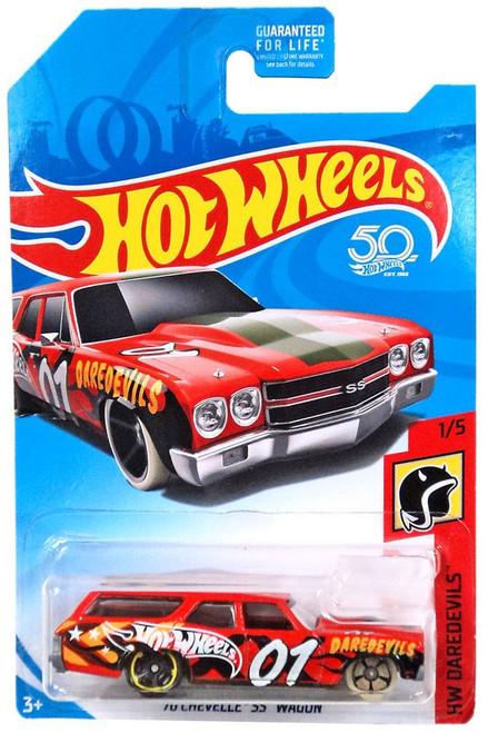 Hot Wheels 50th Anniversary Daredevils '70 Chevelle SS Wagon Die-Cast Car #1/5
