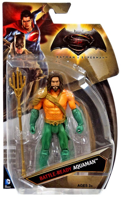 DC Batman v Superman: Dawn of Justice Battle-Ready Aquaman Action Figure [Damaged Package]