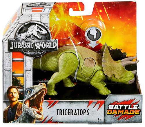 Jurassic World Fallen Kingdom Battle Damage Triceratops Exclusive Action Figure