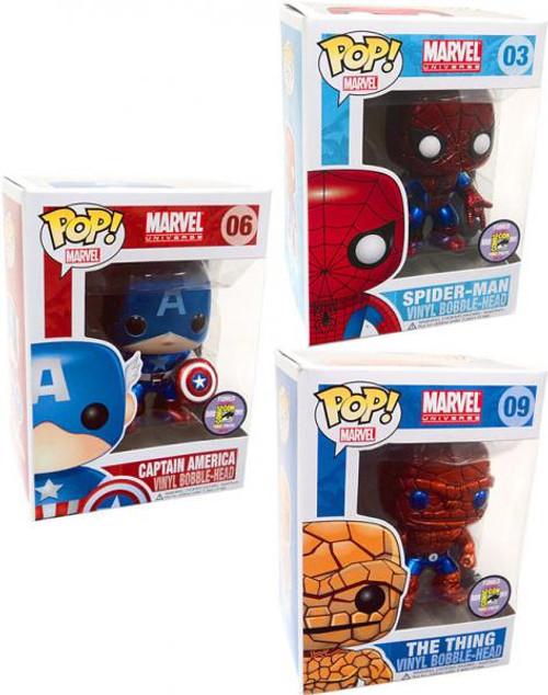 Funko POP! Marvel Marvel Universe Set of 3 Exclusive Vinyl Bobble Head