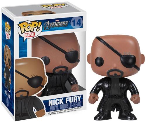 Funko Avengers POP! Marvel Nick Fury Vinyl Bobble Head #14