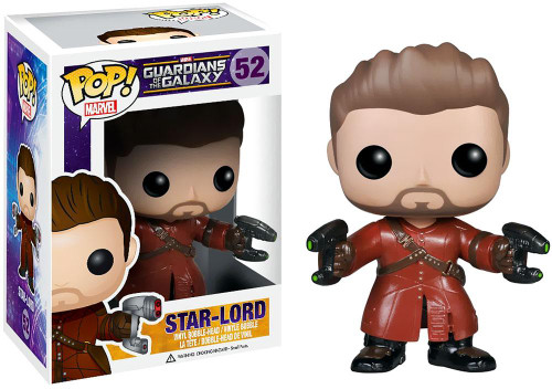 Funko Guardians of the Galaxy POP! Marvel Star-Lord Exclusive Vinyl Bobble Head #52 [Unmasked]