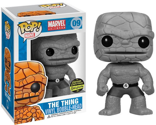Funko Fantastic Four POP! Marvel The Thing Exclusive Vinyl Bobble Head #09 [Black & White Chase Version]