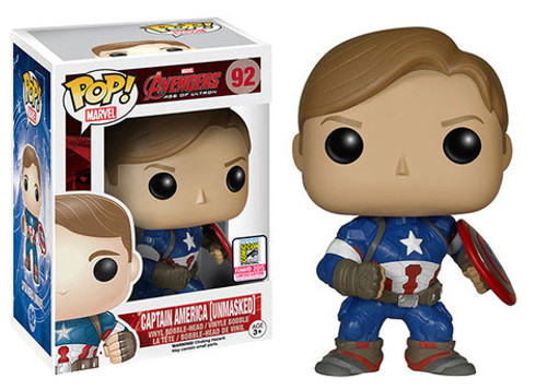 Funko Avengers Age of Ultron POP! Marvel Captain America Exclusive Vinyl Figure #92 [Unmasked]