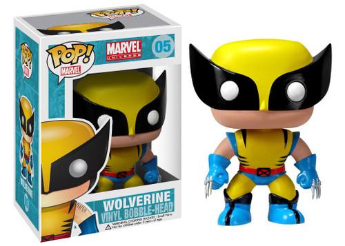 Funko Marvel Universe POP! Marvel Wolverine Vinyl Bobble Head #05 [Damaged Package, Mint Figures]