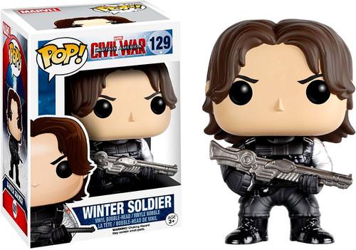 Funko Civil War POP! Marvel Winter Soldier Vinyl Bobble Head #129 [Civil War, Damaged Package]