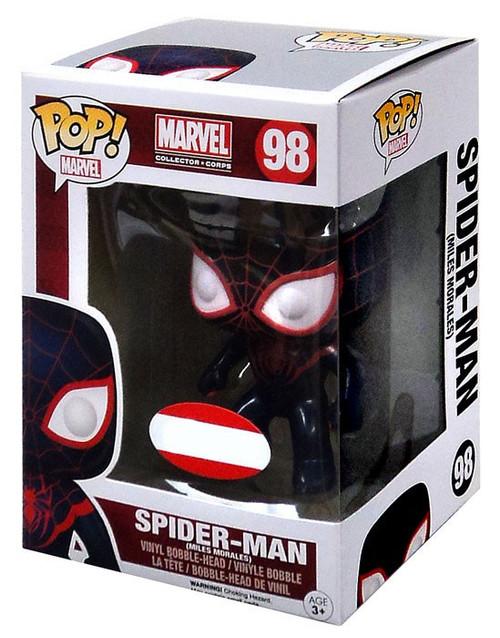 Funko POP! Marvel Spider-Man Exclusive Vinyl Figure #98 [Miles Morales, Damaged Package]